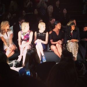 All star front row at Nanette Lepore runway show
